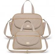 Bolsa Maternidade kit 2 peças Selena Classic for Bags Caqui