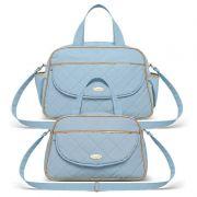 Bolsa Maternidade kit 2 peças Selena Classic for Bags Cor Azul