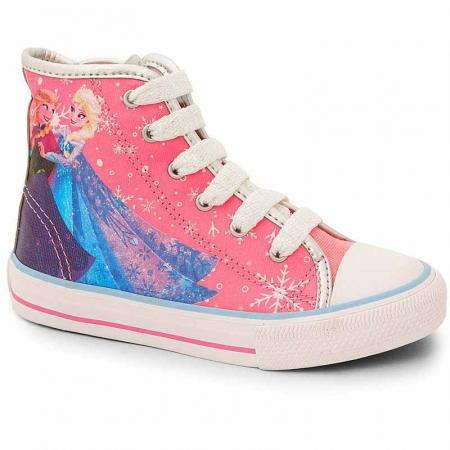 Botinha Infantil Skate Frozen Disney Sugar Shoes Cor Rosa - 33