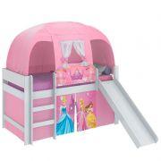 Cama Infantil Princesas Play com Escorregador e Barraca - Pura Magia