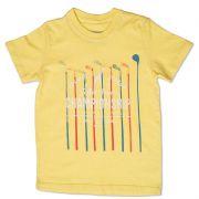 Camiseta Infantil Amarela Tingida Toffee