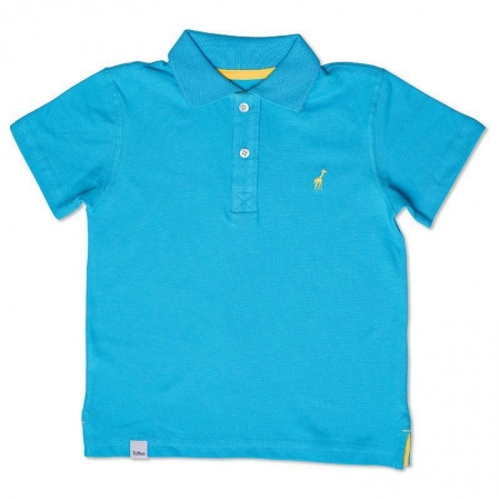 Camiseta Polo Infantil Azul Turquesa Toffee - Nº02
