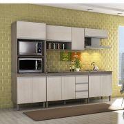 Composição Cozinha Karen 05 módulos Peternella Cor Malbec e Avelã