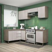 Composição Cozinha Karen 06 módulos Peternella Cor Malbec e Avelã