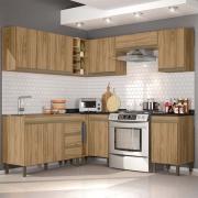 Composição Cozinha Karen 10 módulos Nature Peternella Móveis