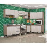 Composição Cozinha Karen 10 módulos Peternella Cor Malbec e Avelã