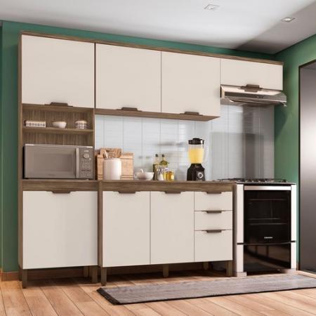 Cozinha 4 Peças Milena com Tampo Incorplac Teka Champanhe