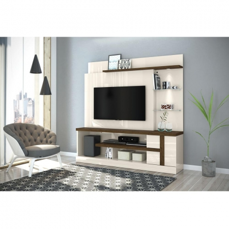 Home Theater Alan Para TV 55 Polegadas Cor Off White Savana