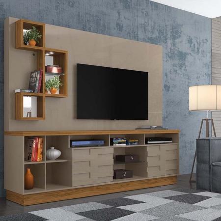 Home Theater Heitor Para TV 65 Madetec Cor Fendi Naturale