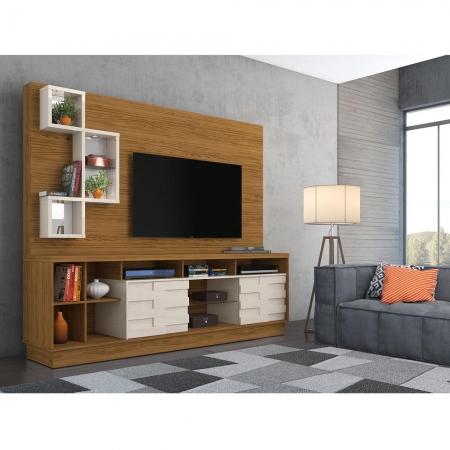 Home Theater Heitor Para TV 65 Madetec Cor Naturale Of White