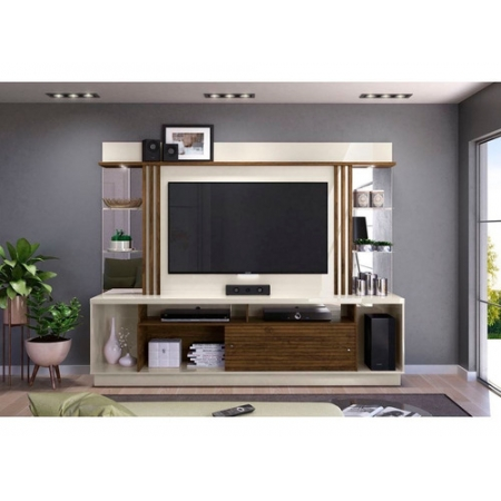 Home Theater Tv 55 Polegadas Frizz Gold Cor Off White Savana