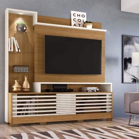 Home Theater Tv 55 Polegadas Frizz Prime Com Pés Madetec Cor Naturale Off White