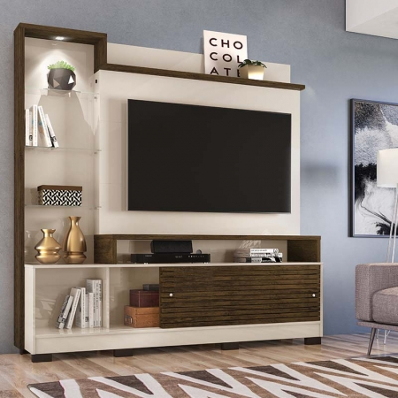 Home Theater Tv 55 Polegadas Frizz Prime Com Pés Madetec Cor Off White Savana