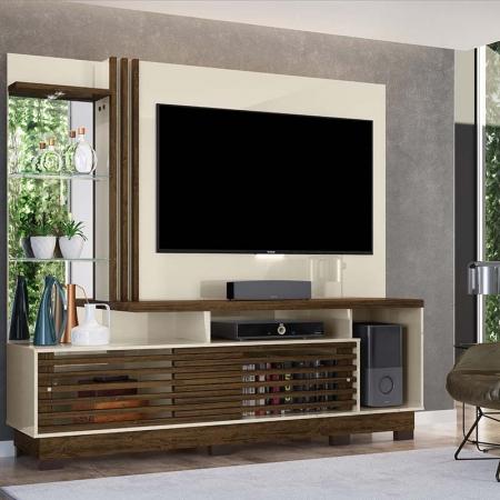 Home Theater Tv 60 Frizz Plus Com Pés Madetec Cor Savana  Off White