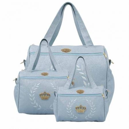 Kit 3 Bolsas Maternidade Majestic Hug  Cor Azul