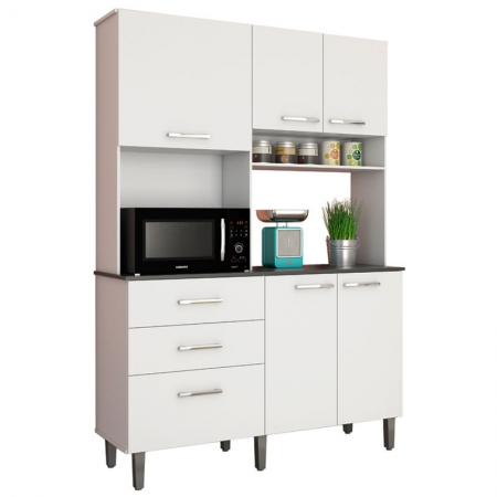 Kit de Cozinha Acácia Rud Rack - Branco