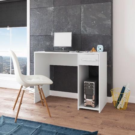 Mesa de Computador Mariza Plus Móveis Paraná Cor Branco