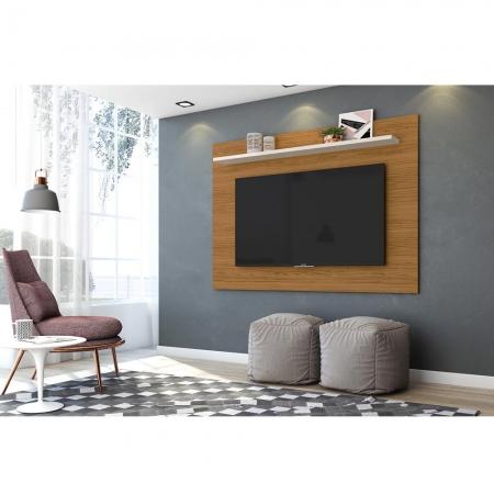 Painel TV 60 Polegadas Lorenzo 160 cm Cor Naturale Off White