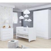 Quarto de Bebê Helena com Berço Phoenix Cor Branco Brilho