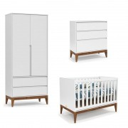 Quarto de Bebê Nature Clean 2 Portas Matic Cor Soft Eco Wood
