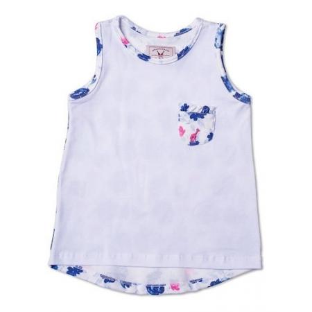 Regata Infantil Com Bolso Floral Azul Toffee - Nº04