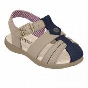 Sandália Infantil Carinhoso Ortopé Cor Bege Tamanho 18