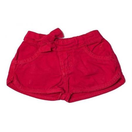 Shorts Jeans Infantil Feminino Toffee Cor Vermelho - 6 a 9 meses