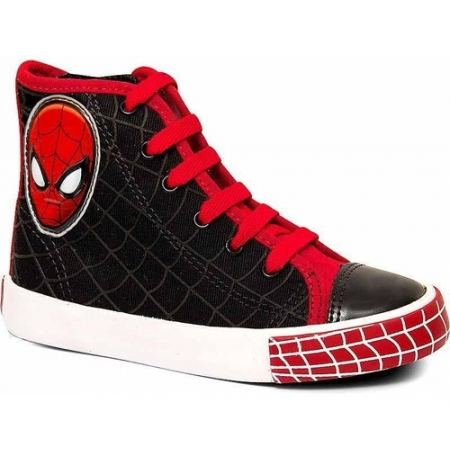Tênis Canvas Hi Masculino Homem Aranha Sugar Shoes - N°24