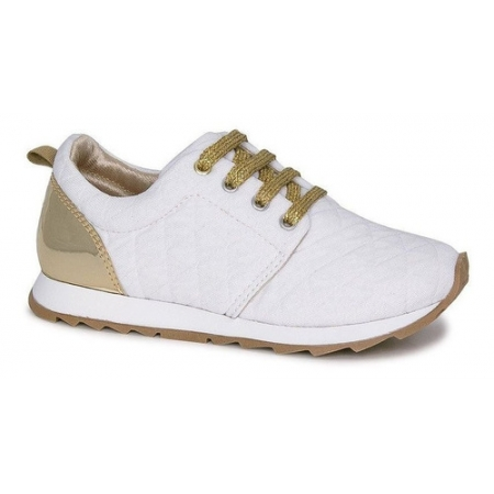 Tênis Infantil Diversão Runner Sugar Shoes Cor Branco - N°32
