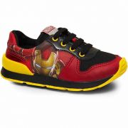 Tênis Infantil Masculino Jogguing Homem de Ferro Sugar Shoes Tamanho N°23