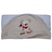 Toalha de Banho Infantil Fustão Cachorrinho Cor Branca