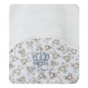 Toalha de Banho Infantil Urso Azul Classic for Baby Branca