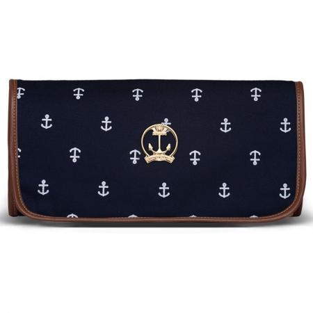 Trocador Portátil Navy Sarja Classic for Bags Cor Azul