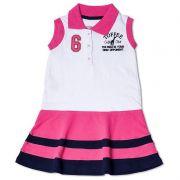 Vestido Infantil Gola Polo Toffee