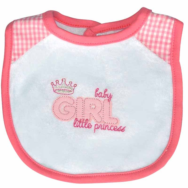 Babador Forrado Atoalhado Its a Girl Classic for Baby Rosa