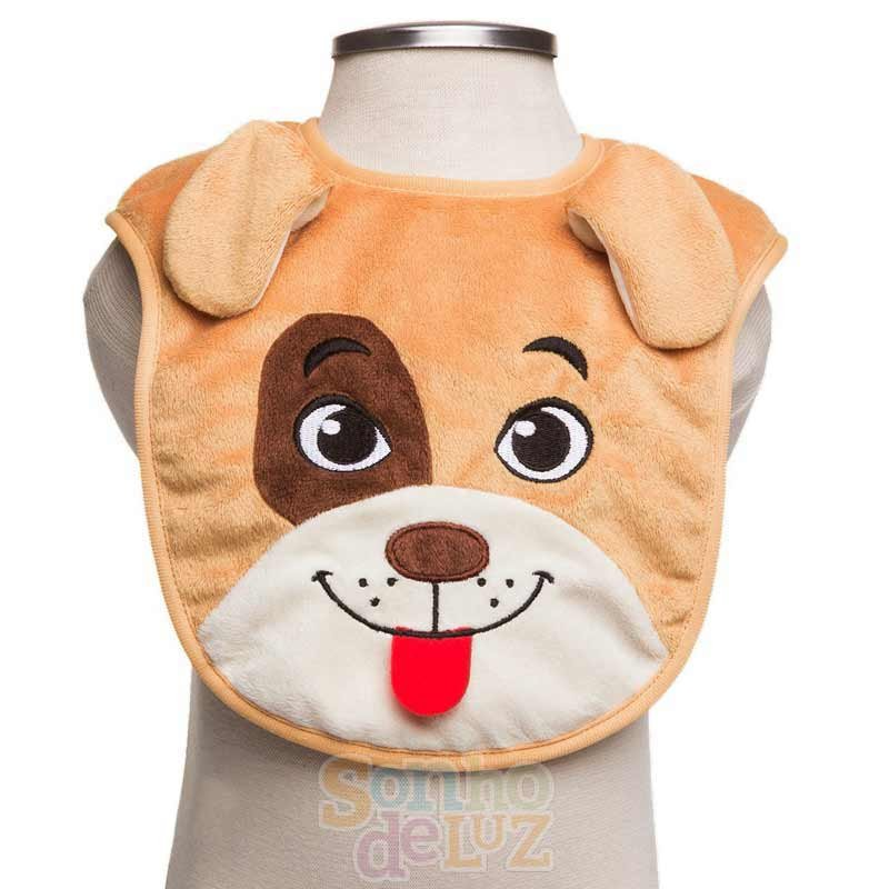 Babador Infantil Sonho De Luz Modelo Cachorro Cor Marrom