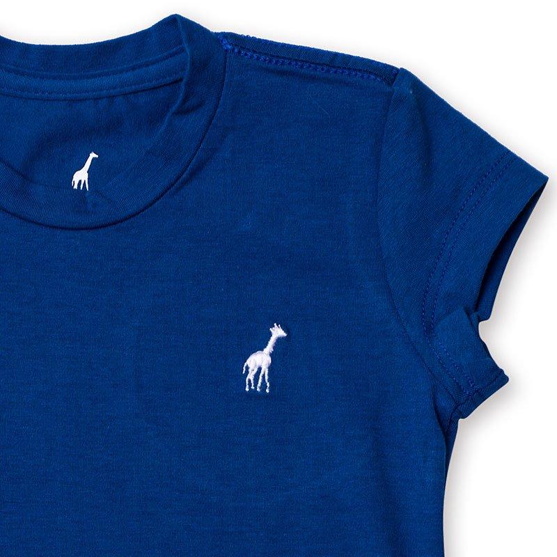 Baby Look Infantil Básica Toffee Cor Azul Royal - Nº01