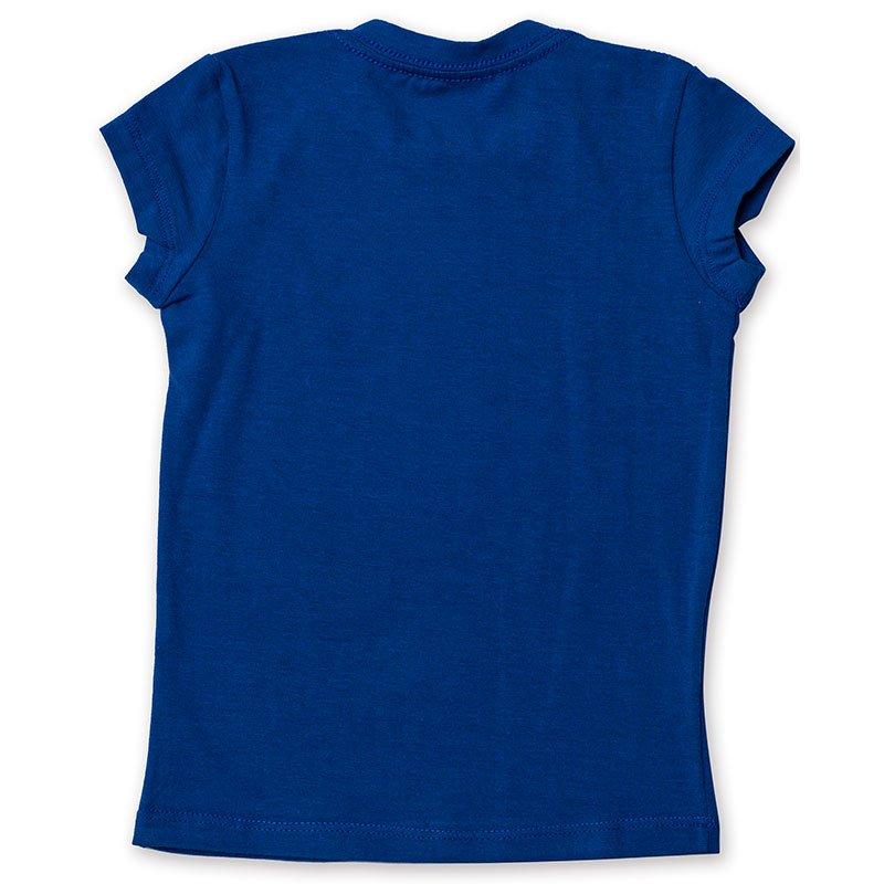 Baby Look Infantil Básica Toffee Cor Azul Royal - Nº06