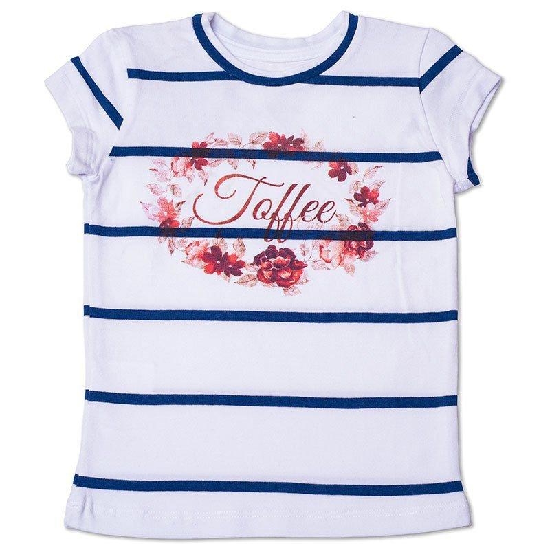 Baby Look Infantil Listrada com Arte Toffee Cor Branca - Nº04
