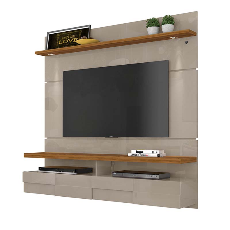 Bancada Suspensa Lana 160 cm TV 60 Madetec Fendi Naturale
