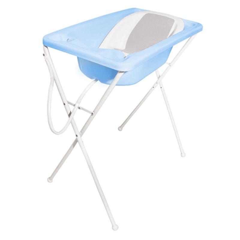 Banheira Para Bebê Acqua Trio Galzerano Cor Azul Pastel