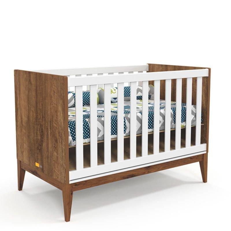 Berço e Cômoda Nature Clean com Porta Matic Teka Eco Wood