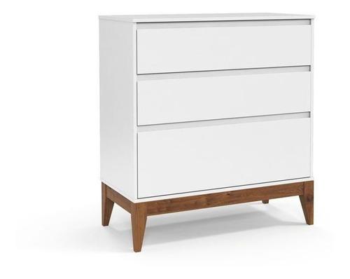 Berço e Cômoda Nature Clean Matic Cor Branco Soft Eco Wood
