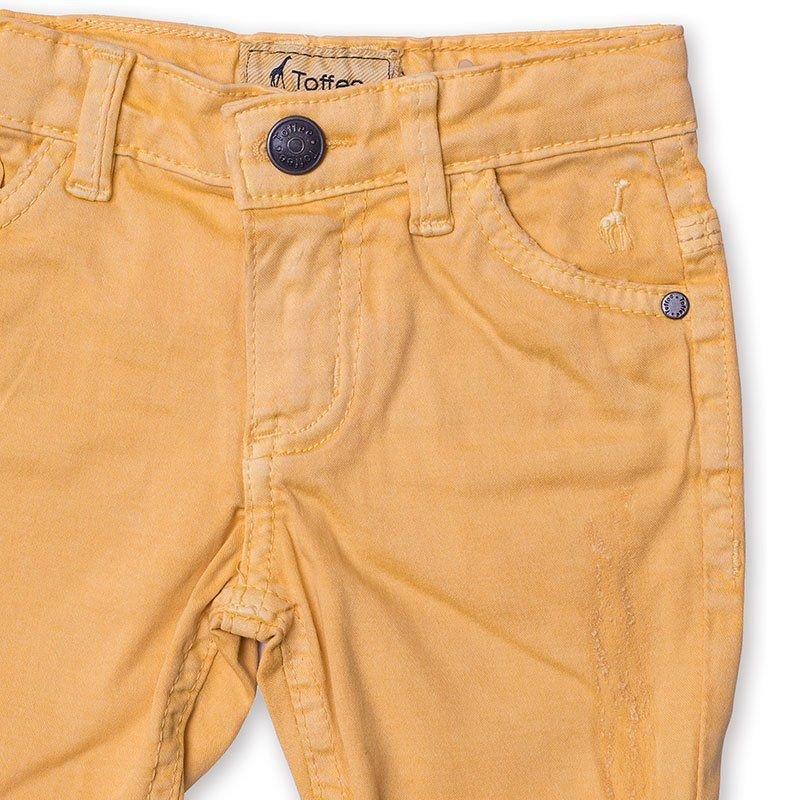 Bermuda Jeans Infantil Masculina Amarela Toffee - Nº06