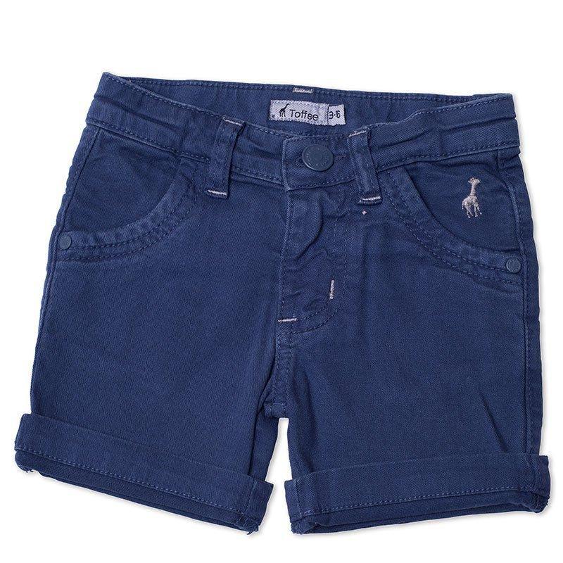 Bermuda Jeans Infantil Masculina Azul Marinho Toffee - 9 a 12 meses