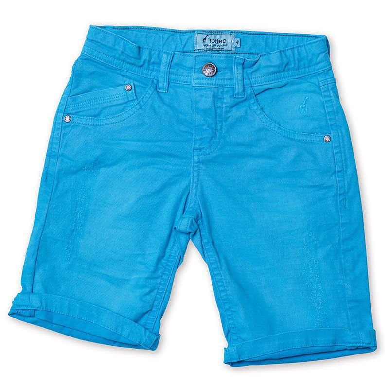 Bermuda Jeans Infantil Masculina Azul Royal Toffee - Nº01