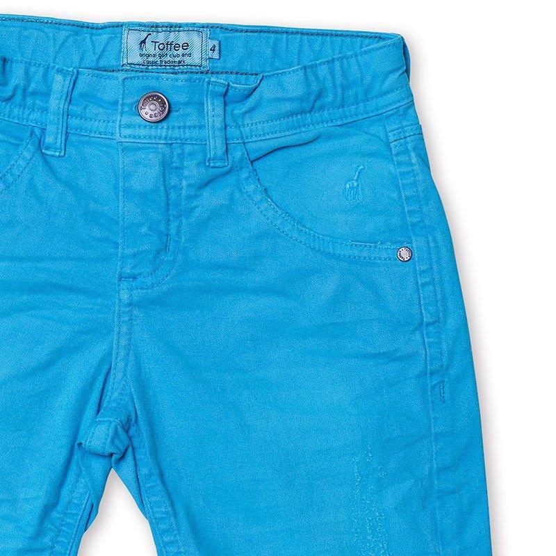 Bermuda Jeans Infantil Masculina Azul Royal Toffee - Nº04
