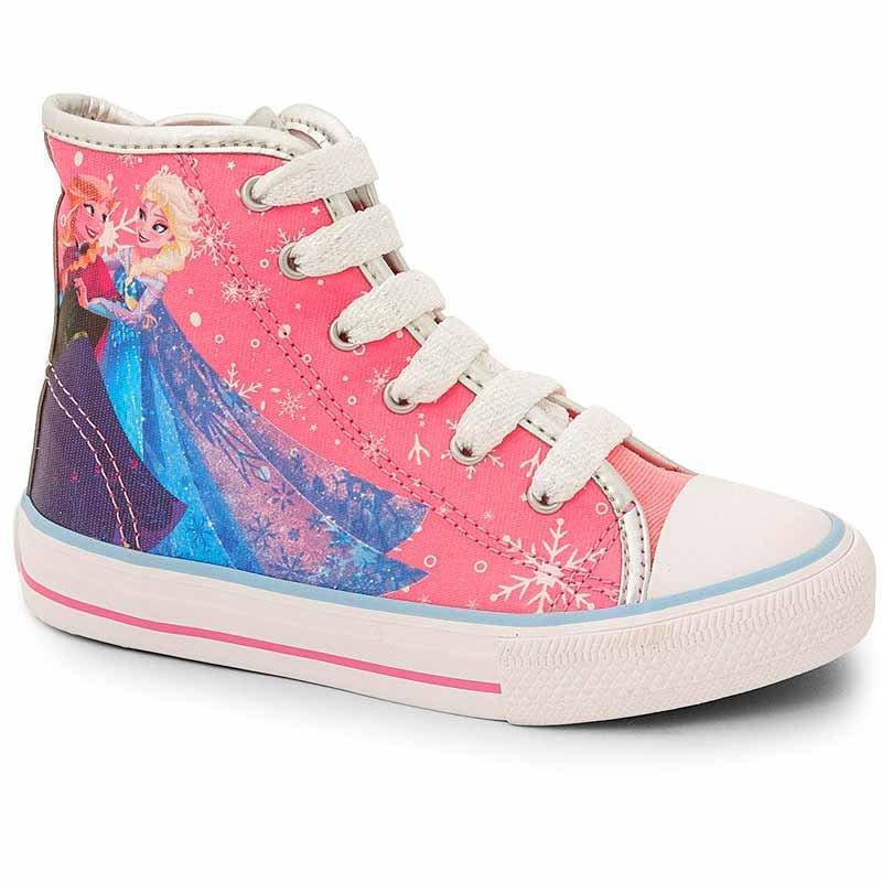 Botinha Infantil Skate Frozen Disney Sugar Shoes Cor Rosa - 23