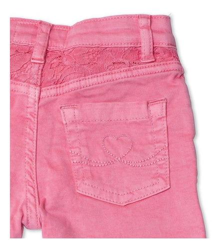 Calça Jeans Infantil Feminina Rosa Toffee - Nº6 a 9 meses