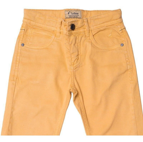 Calça Jeans Infantil Masculina Mostarda Toffee - Nº03